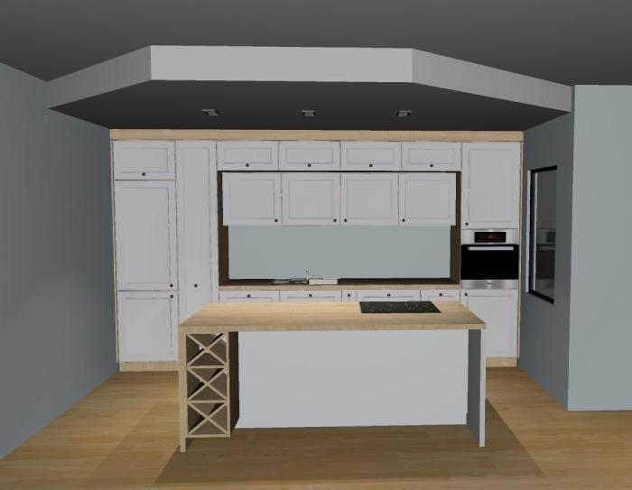 Model 3d zaprojektowanej kuchni